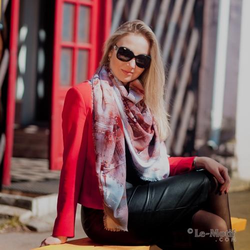 Оригинальный платок из качественного хлопка и шелка из интернет магазина le-motif.com
