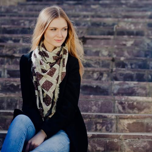 Оригинальный платок из качественного хлопка и шелка из интерет магазина le-motif.com