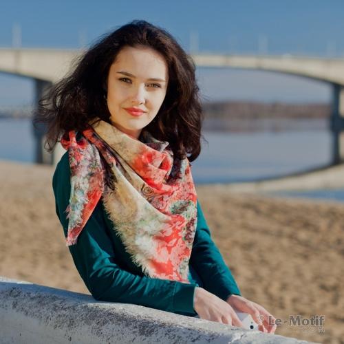 платок из качественного хлопка с вискозой из интернет магазина le-motif.com