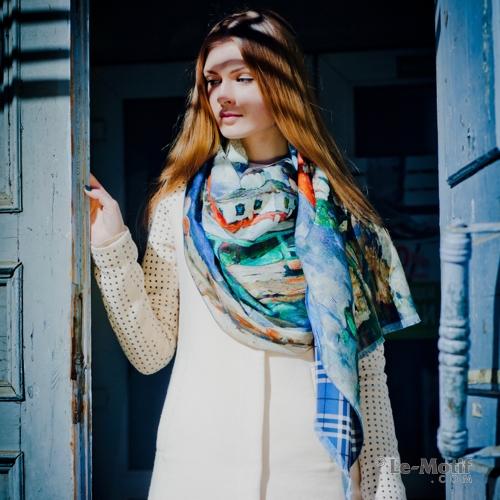 Шарф из высококачественной шерсти и хлопка из интернет магазина le-motif.com