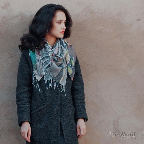 Легкий платок из качественного хлопка и шелка из интернет магазина le-motif.com