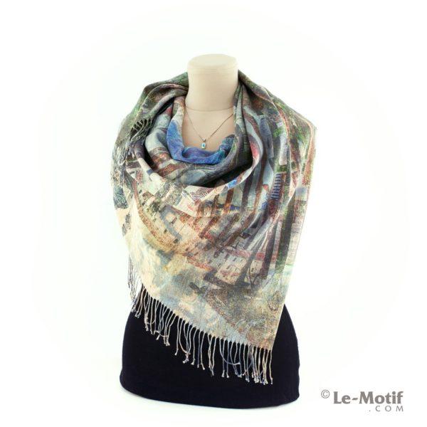 Платок Le Motif из шерсти и хлопка как красиво завязать