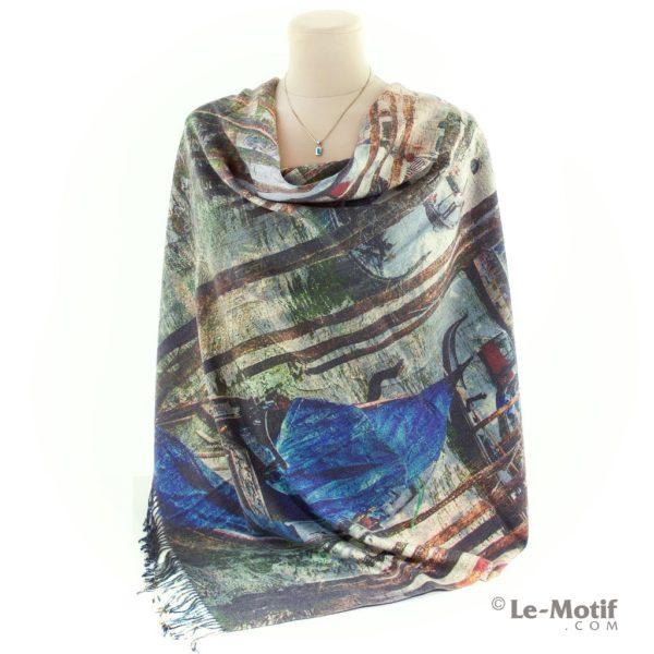 Платок Le Motif из шерсти и хлопка на шее, арт. 15GF233