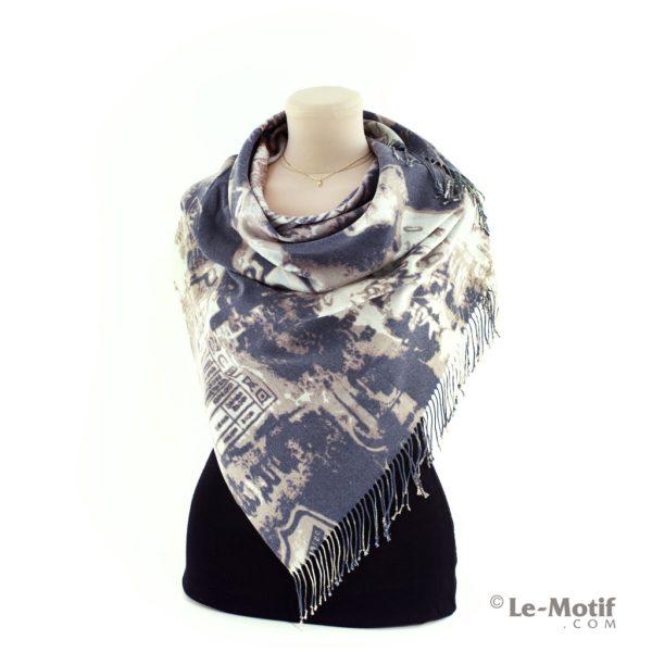 Платок Le Motif из шерсти и хлопка способ завязывания