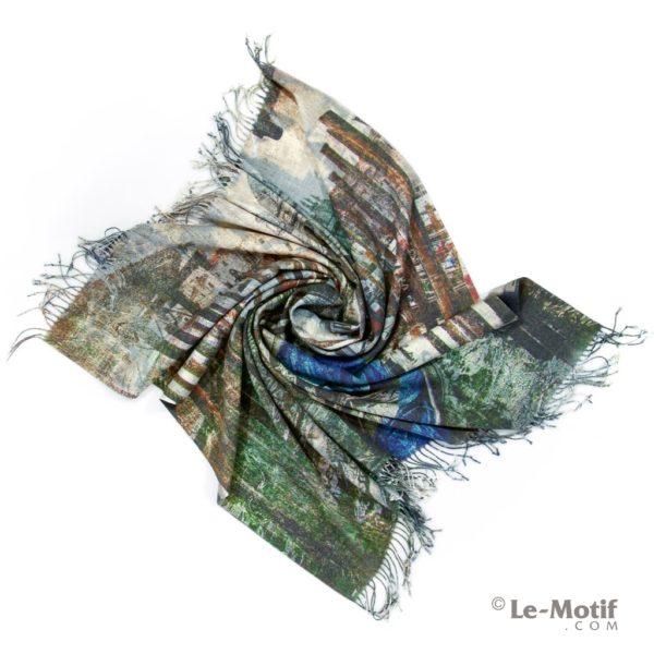 Платок Le Motif из шерсти и хлопка. Фото для каталога 1.