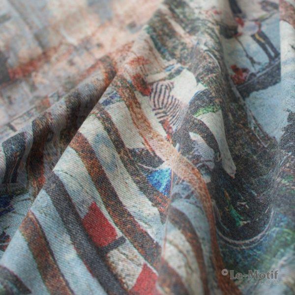 Платок Le Motif из шерсти и хлопка. Фото ткани 1, арт. 15GF233