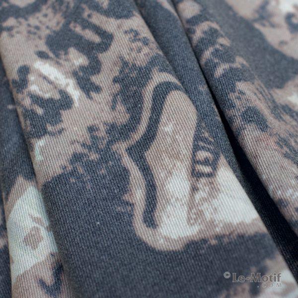Платок Le Motif из шерсти и хлопка. Фото ткани 2, арт. 15GF233