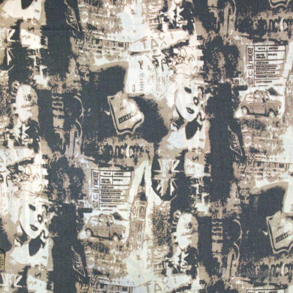 Платок Le Motif из шерсти и хлопка современная абстракция