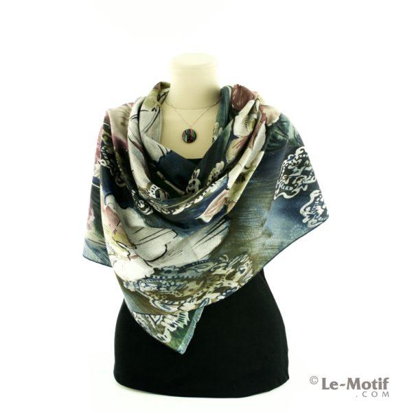 Шарф Le Motif Couture из шерсти и хлопка на шее, арт. 15LS475-2
