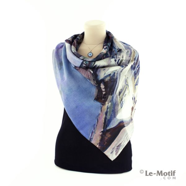 Платок Le Motif из хлопка с вискозой Фото ткани, арт. 15XWF290
