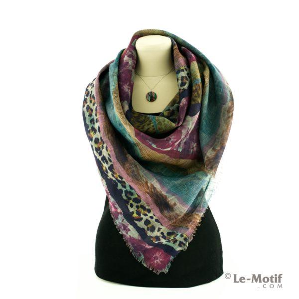 Платок Le Motif из льна с вискозой как красиво завязать