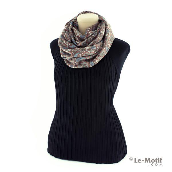 Шарф-снуд Le Motif Coutureиз хлопка на шее, арт. BT03-2