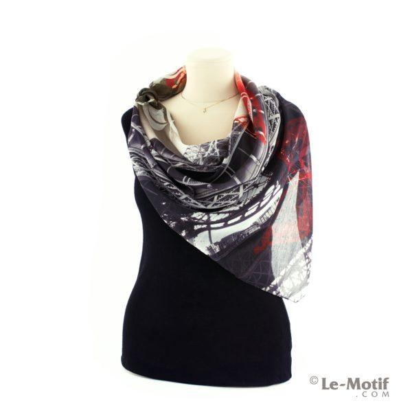 Платок Le Motif Couture из хлопка на шее, арт. HF15-528