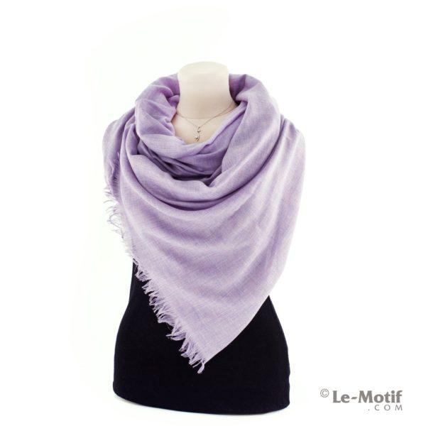 Палантин Le Motif из шелка и хлопка на шее, арт. LX01-6