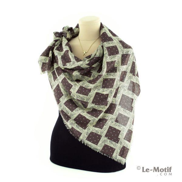 Платок Le Motif Couture из шелка и хлопка как красиво завязать