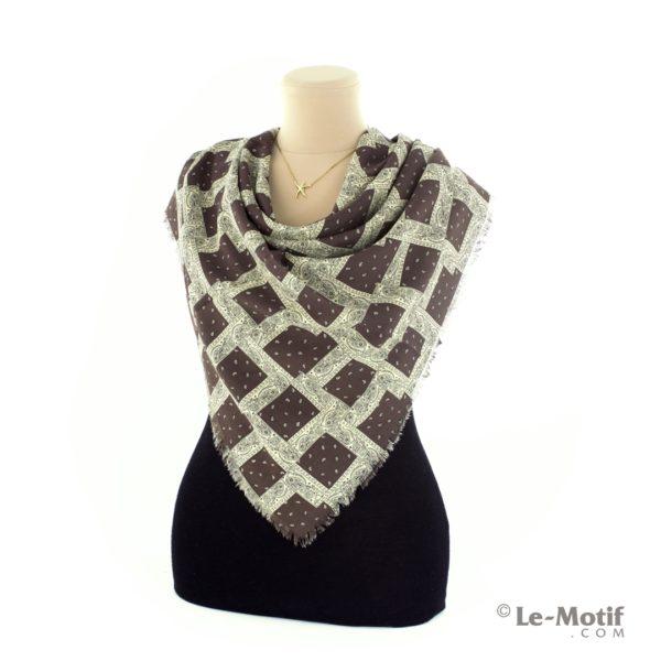 Платок Le Motif Couture из шелка и хлопка способ завязывания, арт. S171-1