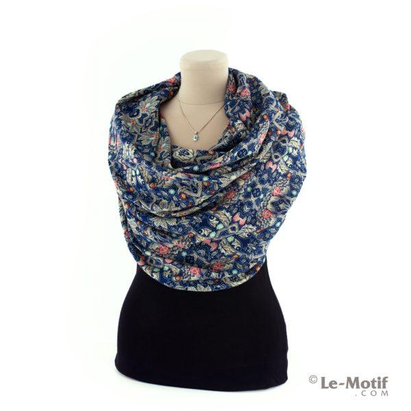 Платок Le Motif из шелка и хлопка на шее, арт. S181-1