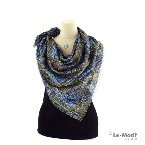 Платок Le Motif из шелка и хлопка на шее, арт. SM184-1