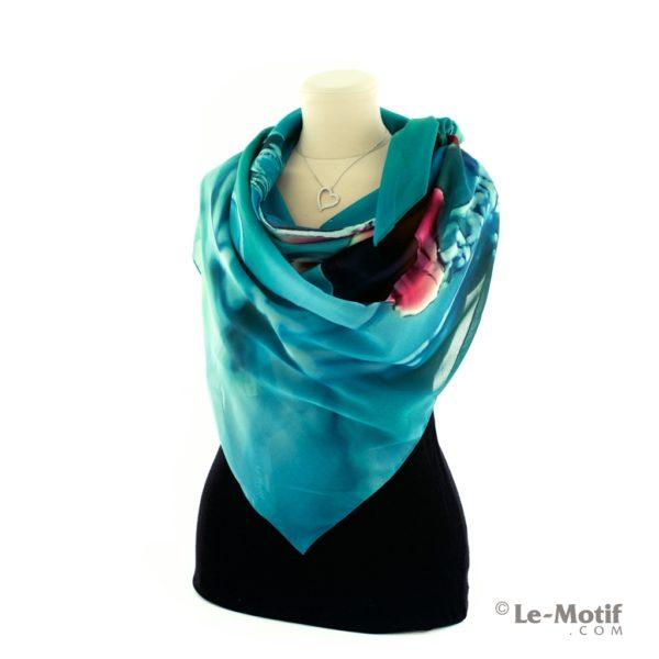 Платок Le Motif из шелка с вискозой как красиво завязать