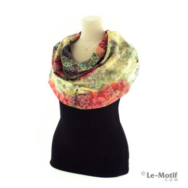 Платок Le Motif из хлопка с вискозой на шее, арт. TM75-2