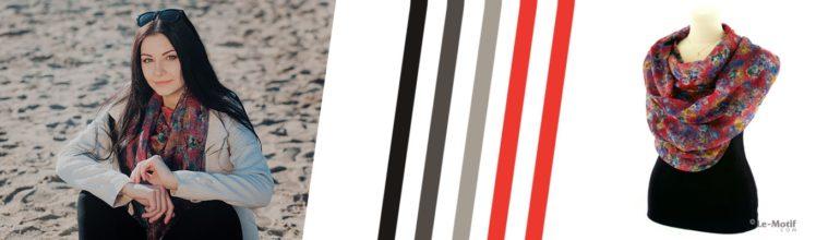 """Яркие платки и палантины из льна с вискозой коллекции """"Геометрия цвета"""""""
