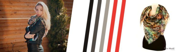 """Двухсторонние платки и палантины из хлопка с вискозой из коллекции """"Тонкость души"""""""