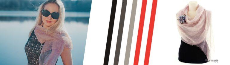 """Двухслойный воздушный шарф из шелка и хлопка из коллекции """"Воздушный шёлк"""""""