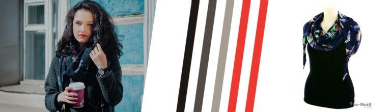 """Оригинальные шарфы-дольки из хлопка и шелка из коллекции """"Дольче вита"""""""