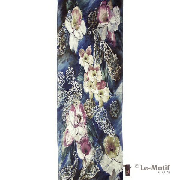 Шарф Le Motif Couture из шерсти и хлопка весенние нарциссы