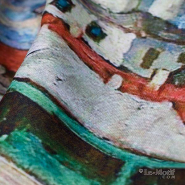 Шарф Le Motif из шерсти и хлопка. Фото ткани 1, арт. 15LS693
