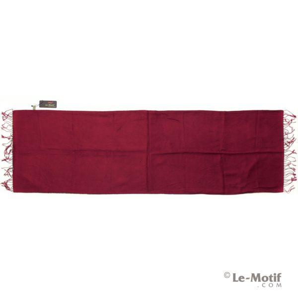 Палантин Le Motif из хлопка с вискозой бордовый цвет15SD356