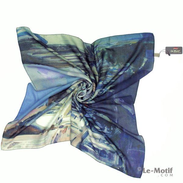 Платок Le Motif из хлопка с вискозой. Фото для каталога.