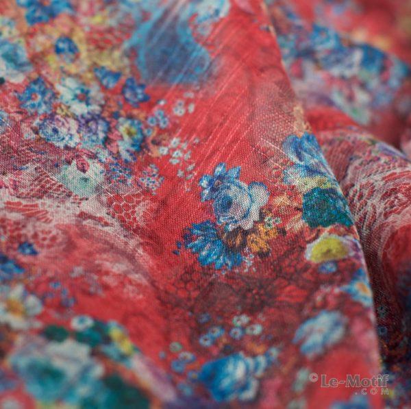 Палантин Le Motif из льна с вискозой. Фото ткани 1, арт. 15Z106-1X