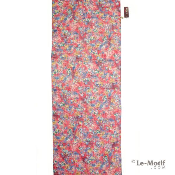 Палантин Le Motif из льна с вискозой яркие летние цветы