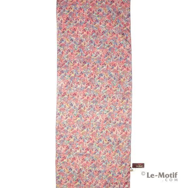 Палантин Le Motif из льна с вискозой нежный цветочный орнамент