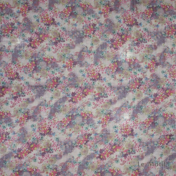 Платок Le Motif из льна с вискозой. Изображение цветов