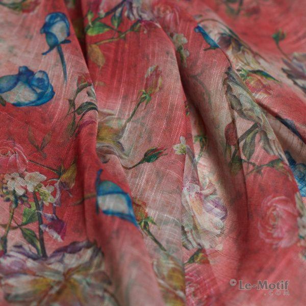Платок Le Motif из льна с вискозой. Фото ткани 1, арт. 15Z111-2