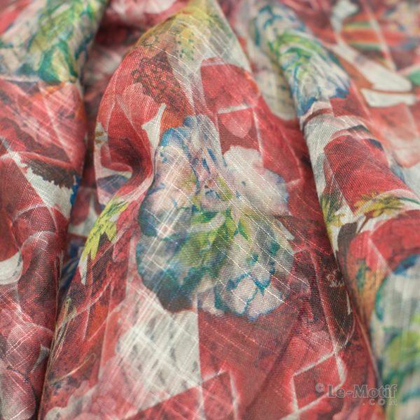 Платок Le Motif из льна с вискозой. Фото ткани 1, арт. 15Z122-1