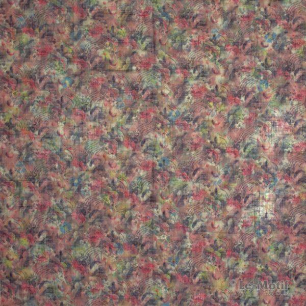 Платок Le Motif из льна с вискозой цветочные узоры