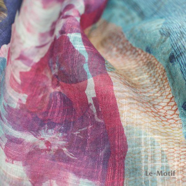 Платок Le Motif из льна с вискозой. Фото ткани 1, арт. 15Z126-4