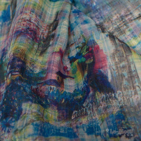 Платок Le Motif из льна с вискозой. Фото ткани 2, арт. 15ZM112