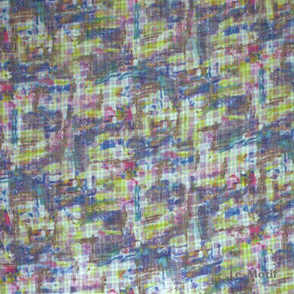 Платок Le Motif из льна с вискозой. Абстракция, арт. 15ZM112