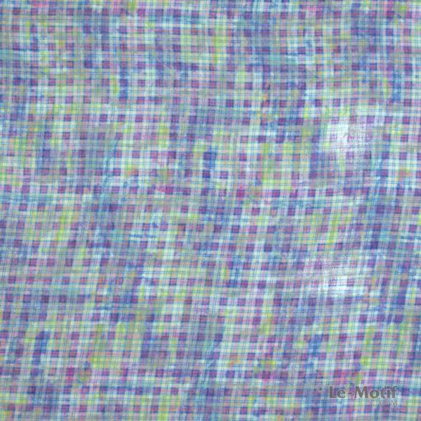 Платок Le Motif из льна с вискозой изображение-клетка.