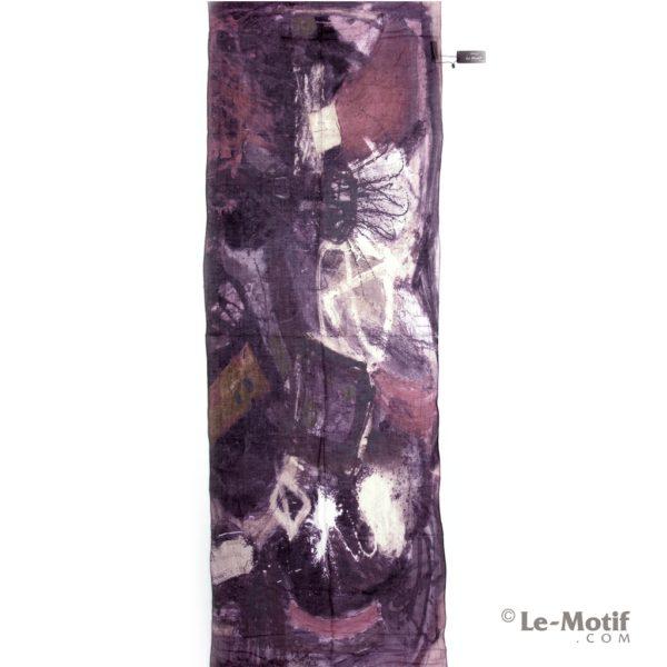 Палантин Le Motif из льна и модала Абстрактное изображение.