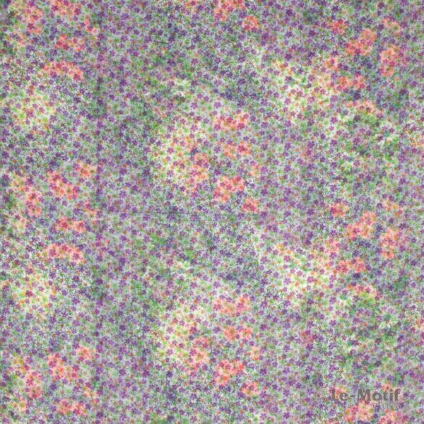 Платок Le Motif из хлопка с вискозой цветочные узоры