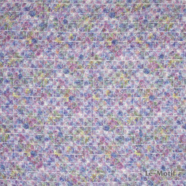 Платок Le Motif из хлопка с вискозой разноцветные узоры