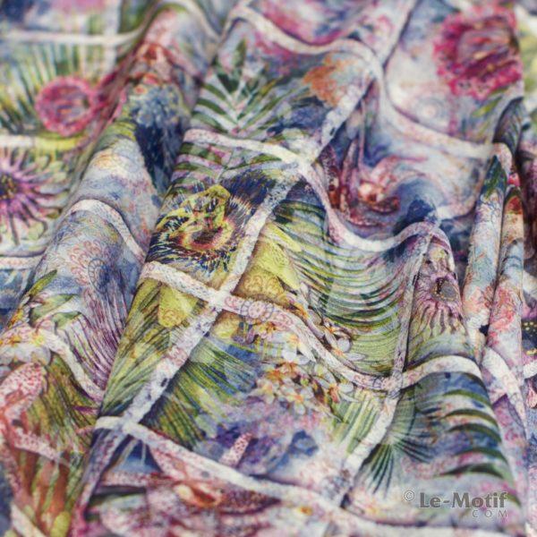 Платок Le Motif из хлопка с вискозой. Фото ткани 1, арт. 16T80-2