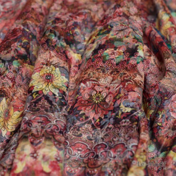 Платок Le Motif из хлопка с вискозой. Фото ткани 1, арт. 16T81-1