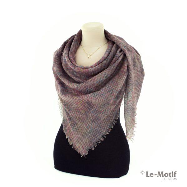 Платок Le Motif из льна с вискозой на шее, арт. 16Z116