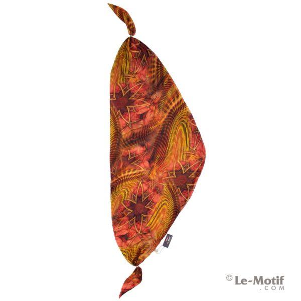 Шарф-долька Le Motif из хлопка с вискозой. Изображение-абстракция.